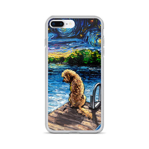 Goldendoodle Night 3 iPhone Case
