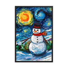 Load image into Gallery viewer, Frosty Night Framed Print