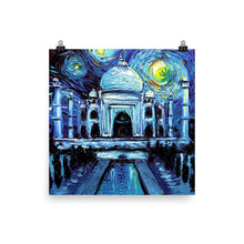 Load image into Gallery viewer, Van Gogh Never Saw Taj Mahal Matte Poster Print