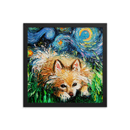 Pomeranian Night Framed Photo Paper Poster