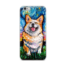 Load image into Gallery viewer, Corgi Night, Smiling iPhone Case