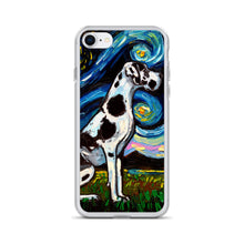 Load image into Gallery viewer, Great Dane Night, Harlequin iPhone Case