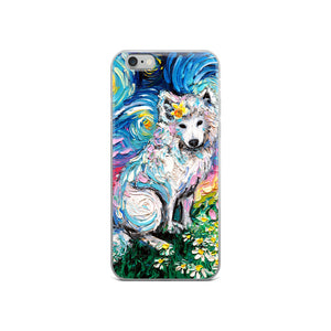 Samoyed Primrose Night iPhone Case