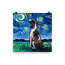 Load image into Gallery viewer, English Springer Spaniel Night Matte Poster Print
