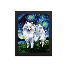 Load image into Gallery viewer, American Eskimo Night Framed Photo Paper Poster