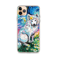 Load image into Gallery viewer, Samoyed Primrose Night iPhone Case