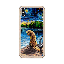 Load image into Gallery viewer, Goldendoodle Night 3 iPhone Case