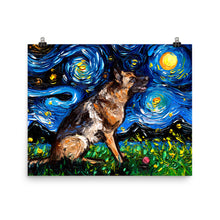 Load image into Gallery viewer, German Shepherd With Ball, Matte Poster Print