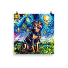Load image into Gallery viewer, Rottweiler Night 2 Matte Poster Print