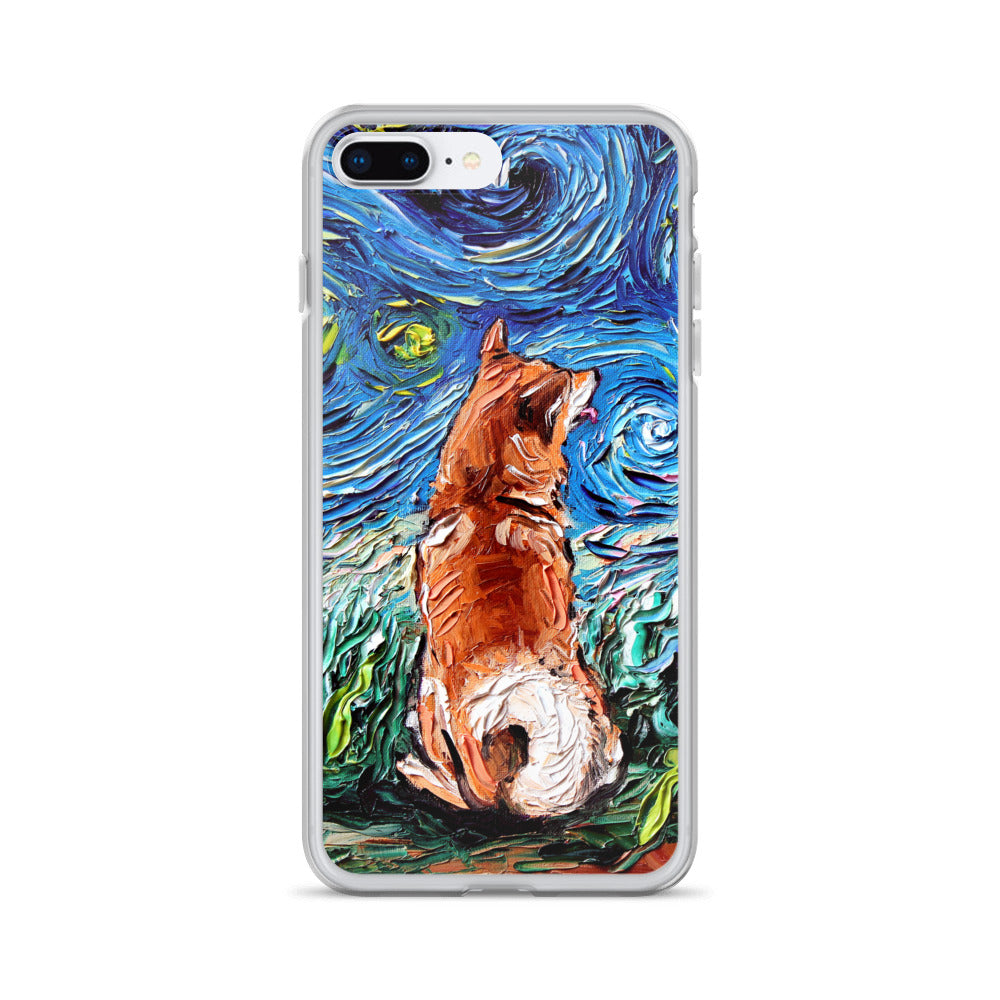 Shiba Inu Night iPhone Case