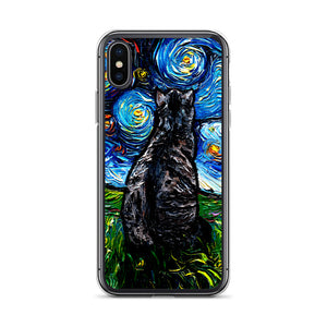 Gray Tabby Night iPhone Case