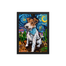 Load image into Gallery viewer, Wire Fox Terrier Night Framed Photo Paper Poster