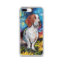 Load image into Gallery viewer, Basset Hound Night 2 iPhone Case