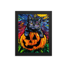 Load image into Gallery viewer, Halloween Kitten Framed Print