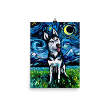 Load image into Gallery viewer, Happy Husky Night, Matte Poster Print