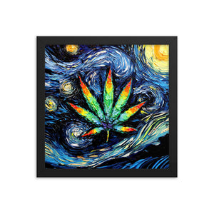 van Gogh Probably Lit Up, Framed Poster Print
