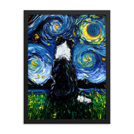 Border Collie Night 3 Framed Photo Paper Poster