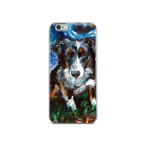 Australian Shepherd Night iPhone Case