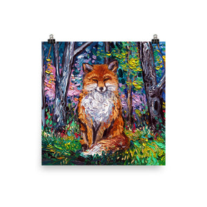 The Red Fox Matte Poster Print
