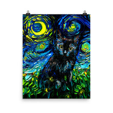 Load image into Gallery viewer, Black Cat Night 3, Matte Poster Print