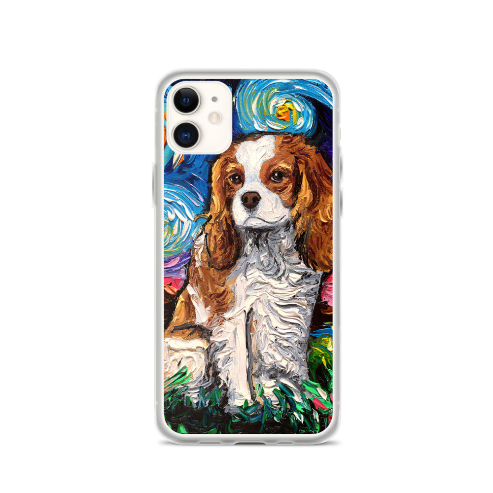 Cavalier King Charles Spaniel Night, Blenheim iPhone Case
