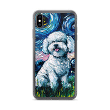 Load image into Gallery viewer, Bichon Frise Night iPhone Case