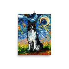 Load image into Gallery viewer, Border Collie Night 2 Matte Poster Print