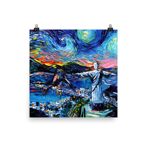 van Gogh Never Saw Christ the Redeemer Matte Poster Print