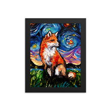 Load image into Gallery viewer, Vulpine Night Starry Night Framed Photo Paper Poster