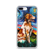 Load image into Gallery viewer, Brittany Spaniel Night iPhone Case