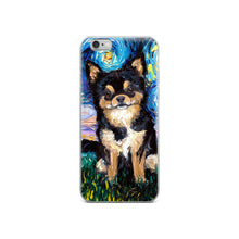 Load image into Gallery viewer, Chihuahua Night, Black and Tan iPhone Case