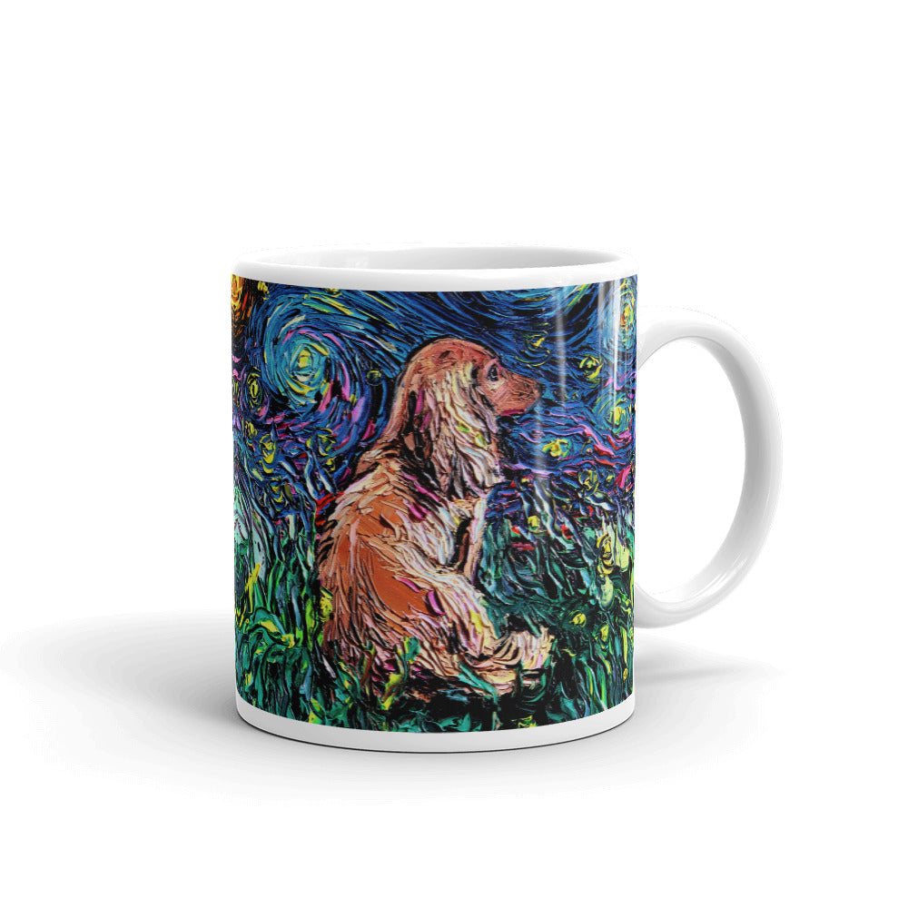 Dachshund Night, Brown Long Hair Coffee Mug