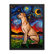 Great Dane Night, Fawn Framed Print