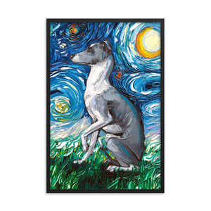 Whippet Night Framed Poster Photo Print