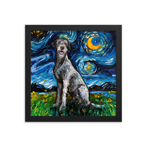 Irish Wolfhound Night Framed Photo Paper Poster