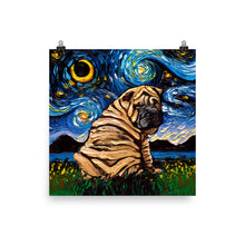 Load image into Gallery viewer, Shar-pei Matte Poster Print