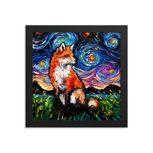 Vulpine Night Starry Night Framed Photo Paper Poster
