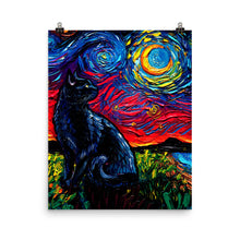 Load image into Gallery viewer, Black Cat Night 2, Matte Poster Print