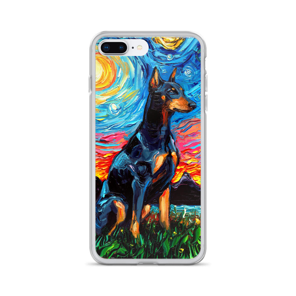 Doberman Night iPhone Case