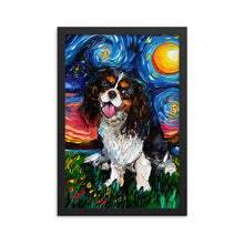 Load image into Gallery viewer, Cavalier King Charles Spaniel, Tri Color Framed Print