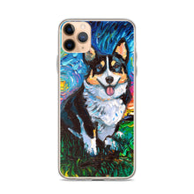 Load image into Gallery viewer, Corgi Night, Tri Color iPhone Case