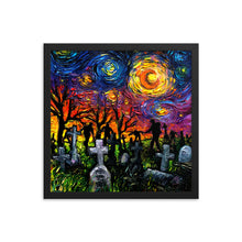 Load image into Gallery viewer, Starry Night of the Living Dead Framed Print