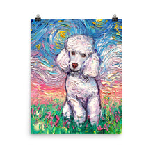 Load image into Gallery viewer, Poodle Night, White Toy, Matte Poster Print
