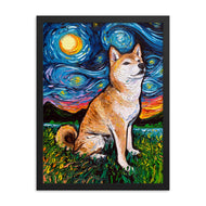 Shiba Inu Night 2 Framed Photo Paper Poster