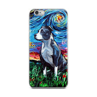 Pitbull Night iPhone Case