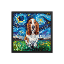 Load image into Gallery viewer, Basset Hound Framed Photo Paper Poster