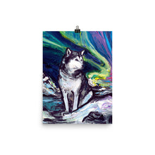 Load image into Gallery viewer, Alaskan Malamute Night Matte Poster Print