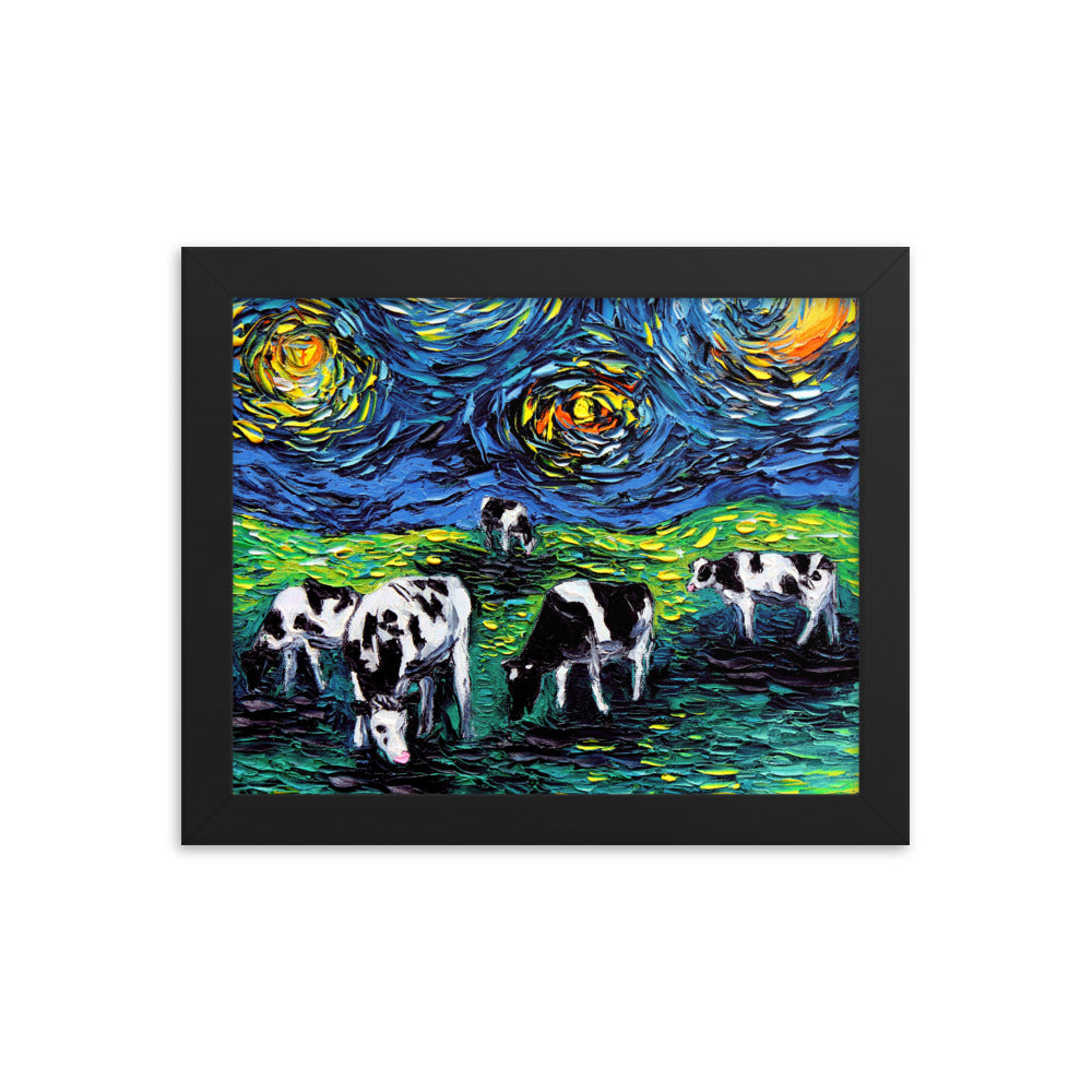 Starry Starry Pasture Framed Print