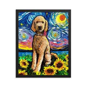Goldendoodle Night 2 Framed Photo Paper Poster