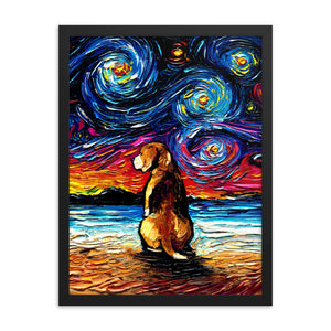 Beagle Night 2 Framed Photo Paper Poster